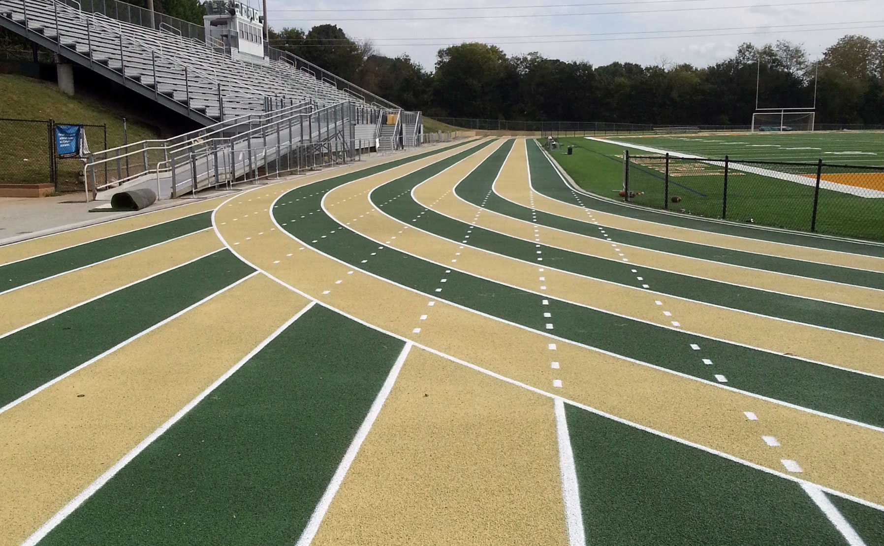 Color Students and Faculty Happy With Green and Gold Track